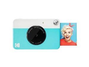 PRINTOMATIC Digital Instant Print Camera Blue Full Color Prints On ZINK 2x3 StickyBacked Photo Paper Print Memories Instantly