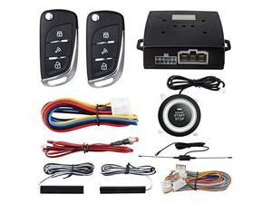 PKE Passive Keyless Entry Car Alarm System Push Start Button Remote Start Starter DC12V EC003NV1