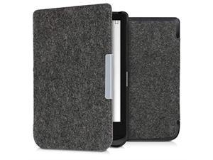 Case for Pocketbook Touch Lux 4Basic Lux 2Touch HD 3 Book Style Felt Fabric Protective eReader Cover Folio Case Dark Grey