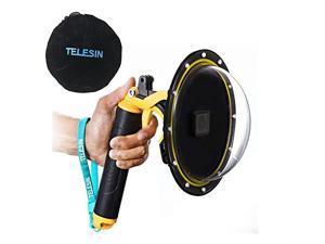 6Dome Port Camera Lens Transparent Cover for GoPro Hero 7 Black Hero 6 Hero 5 Black Hero 2018 with Waterproof Housing Case Pistol Trigger Floating Hand Grip Underwater Diving Accessories