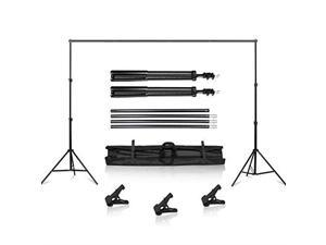 Background Stand 65 x 10FT Heavy Duty Background Stand 2x3M Backdrop Support System Kit with Carry Bag for Photography Photo Video StudioPhotography Studio