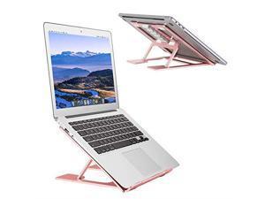 Laptop StandVentilated Portable Ergonomic Notebook Riser for DeskMultiAngle Portable AntiSlip Mount for MacBook Surface Laptop Notebook 1017 Tablet Rose Gold