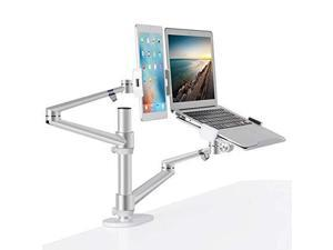 """SIIG Mechanical Spring Monitor Arm Mount w// Laptop Holder Tray Fits 17/""""-32/"""""""