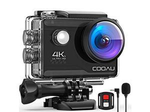 4K 20MP WiFi Action Camera External Microphone Remote Control EIS Stabilization Underwater 40M Waterproof Sport Camera Time Lapse with 2X1200mAh Batteries and 20 Accessories