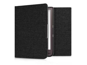 Case for Pocketbook InkPad 33 Pro Book Style Fabric Protective eReader Cover Flip Folio Case Dark Grey