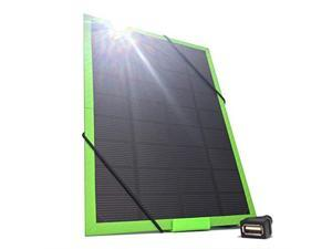 Photon5 USB Solar Phone Charging Kit Carbon Fiber Green