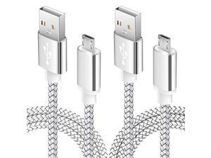 USB Android Phone Charger Cable 6FT 2Pack Fast Charging Cord for Kindle fire 7 Tablet Samsung Galaxy J3 J7 S6 S7 Edge LG stylo 23 LG G3 G4 K30 K20 Plus Moto E5 Plus E6 G4 G5 Plus