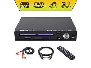 DVD Player  Compact DVD Players for TV Region Full HD Upscaling 1080p UpConverting DivX USB Direct Copying and Playback SD Cardreader Karaoke Mic Port HD DVD Player