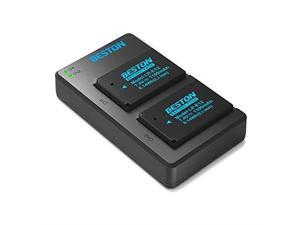 2 Pack LPE12 Batteries and USB Battery Charger for Canon Rebel SL1 PowerShot SX70 HS EOS M EOS M10 EOS M50 EOS M100 Digital Cameras