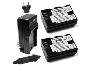 LPE6 LPE6N Battery 2Pack and Charger for Canon EOS 5D Mark IIIIIIV EOS 5DS 5DS R EOS 6D 6D Mark II EOS 7D 7D Mark II EOS 60D 60Da 70D 80D EOS R XC10 XC15