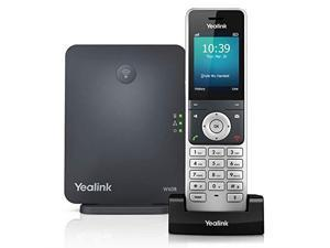 W60P Cordless DECT IP Phone and Base Station 24Inch Color Display 10100 Ethernet 8023af PoE Power Adapter Included