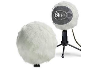Furry Windscreen Muff Customized Pop Filter for Microphone Deadcat Windshield Wind Cover for Improve Blue Snowball iCE Mic Audio Quality White