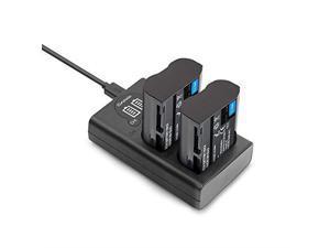 ENEL15  Camera Batteries Charger Set 2Pack 2000mAh Battery USBC Micro USB Charger for Nikon D750 D7500 D850 D810 D810A D800 D800E D7200 D500 D610 D600