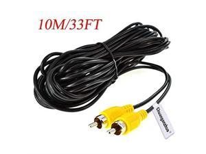 Backup Camera RCA Video CableCAR Reverse Rear View Parking Camera Video Extension Cable with Detection Wire 10M33FT