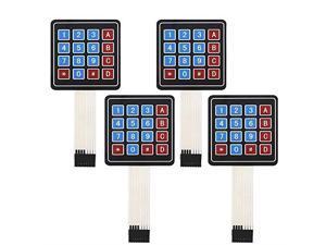 4 Pack Arduino KeypadUniversial 4x4 Matrix Array Keyboard 16 Key Membrane Switch Keypad for Arduino DIY Starter Kit