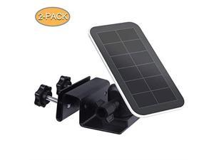 Outdoor Gutter Mount for Arlo Accessory Solar Panel Arlo Ultra Solar Panel Blink Solar Panel Compatible with Any Other Solar Panel with 14 Screw Durable and Simple Install Black2Pack