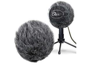 Furry Windscreen Muff Customized Pop Filter for Microphone Deadcat Windshield Wind Cover for Improve Blue Snowball iCE Mic Audio Quality Grey