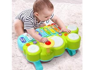 Xylophone Table Music Toys of  MultiFunction Toys Kids Drum Set Discover Play Piano Keyboard Xylophone Set Electronic Learning Toys for Baby Infant Toddler Kids Children