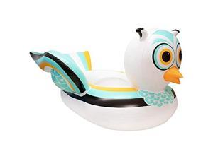 90721M Swimming Pool Lake Giant Rideable Owl Inflatable Float White