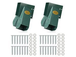Easy 123 AFrame 2 Brackets Swing Set Bracket with Mounting Hardware Green