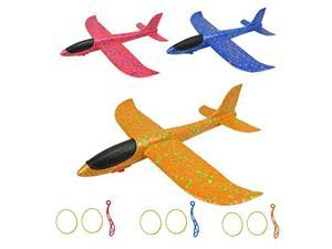 Catapult Plane Hand Throwing Glider Airplane Toy3 Pack EPP Foam Aircraft with 136 inches Wingspan for Outdoor Sports Garden Yard Playing
