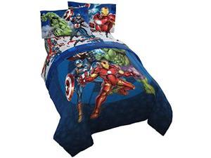 Marvel Avengers Blue Circle Bed Set Twin