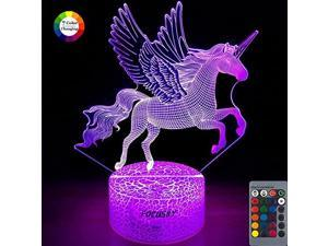 Unicorn Night Light for KidsDimmable LED Nightlight Bedside Lamp16 Colors+7 Colors ChangingTouchRemote ControlBest Unicorn Toys Birthday Gifts for Girls Boys