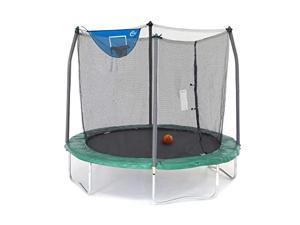 8Foot Jump N Dunk Trampoline with Enclosure Net Basketball Trampoline