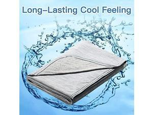 Cooling Blanket Latest CooltoTouch Technology Breathable Cool Blanket for Sleeping Night Sweats Lightweight Summer Blanket for Bed QMAX>04 Gray Twin 79 x 59 inches