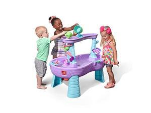 Rain Showers Unicorns Water Table | Kids Purple Water Play Table with 13Pc Unicorn Accessory Set