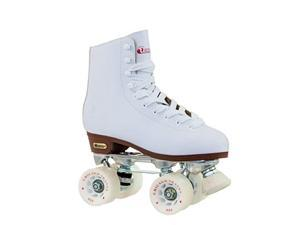 Womens Leather Lined Rink Roller Skate Size 9 White