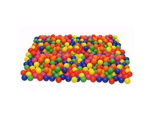 Pack of 200 Phthalate Free BPA Free Crush Proof Plastic Ball Pit Balls 6 Bright Colors in Reusable and Durable Storage Mesh Bag with Zipper