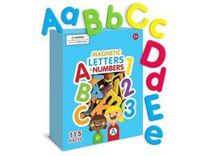 Magnetic Letters and Numbers 115 Colorful ABC 123 Foam Alphabet Magnets Educational Toy for Preschool PreK Spelling Counting