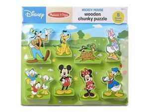 Doug Disney Mickey Mouse Clubhouse Wooden Chunky Puzzle 8 Pieces Great Gift for Girls and Boys Best for 2 3 and 4 Year Olds