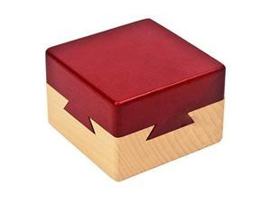 Impossible Dovetail Box Wooden Puzzle Brain Teaser Magic Drawers Gift Secret Compartment Brain Game for Adults