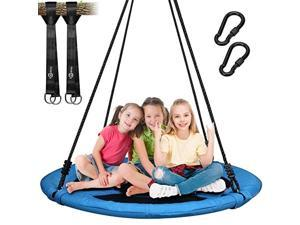700lb Saucer Tree Swing for Kids Adults 40 Inch 900D Oxford Waterproof Frame Includes 2 Tree Hanging Straps