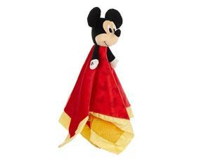 Baby Mickey Mouse Plush Stuffed Animal Snuggler Blanket Red