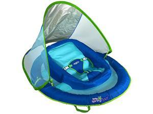 Infant Baby Spring Float with Adjustable Sun Canopy Blue