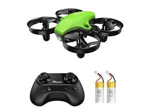 Upgraded A20 Mini Drone Easy to Fly Even to Kids and Beginners RC Helicopter Quadcopter with Auto Hovering Headless Mode Extra Batteries and Remote ControlGreen