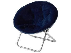 Faux Fur Saucer Chair Navy