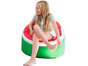 Bean Bag Chair for Kids Stuffed Animal Storage Bean Bag Cover for Child Indoor Outdoor Waterproof Polyester Watermelon