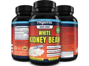 Phytoral White Kidney Bean Supplement Pure Extract Starch Carb Blocker Weight Loss Formula - Lose Belly Fat Suppress Appetite Increase Metabolism Natural Weight Loss