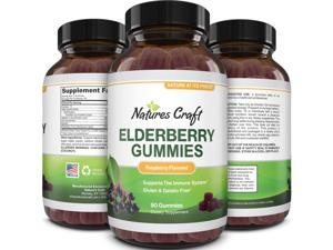 Immunity Sambucus Elderberry Gummies for Adults - Black Elderberry Gummy Metabolism Booster with Zinc and Vitamin C - Anti Aging Super Antioxidant Supplement Immunity Gummies for Joint Support