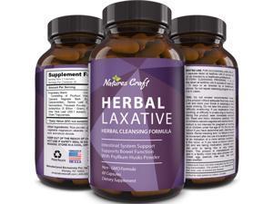 Natures Craft Natural Weight Loss Formula Psyllium Husk Powder Colon Cleanse Laxatives  60ct