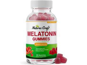 Melatonin 5mg Natural Sleep Aid - Natural Melatonin Gummies 5mg Deep Sleep Supplement for Insomnia Relief