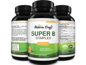 Vitamin B Complex Adult Multivitamin - Super B Complex Vitamins for Immune Support Mood Boost and Memory Supplement for Brain Support