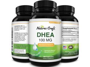 DHEA 100mg Natural Energy Pills - Pure DHEA Supplement Natural Testosterone Booster for Men and Female Hormone Balance Plus Thyroid Support