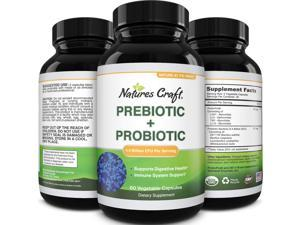 Prebiotics and Probiotics Gut Health Supplement - Acidophilus Probiotic Capsules Colon Cleanser & Detox for Weight Loss