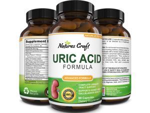 Natures Craft Uric Acid Kidney Support Vitamin - Herbal Detox Cleanse for Joint Comfort Muscle Recovery Tart Cherry Milk Thistle and Bromelain Antioxidant Dietary Supplement
