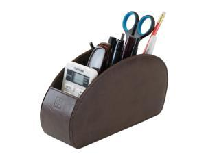 Remote Control Holder Brown Storage Caddy Desk Organiser 5 Compartments for TV, DVD, Blu-Ray Remotes - CEG10 Brown by Connected Essentials